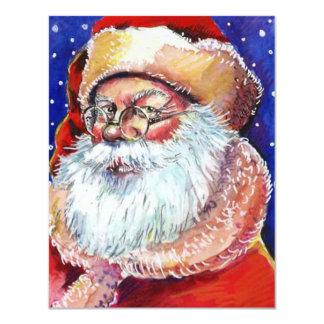 Blank Secret Santa Holiday Announcement Invitation