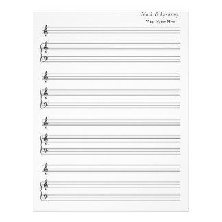 Blank Sheet Music Blank Piano Treble Clef