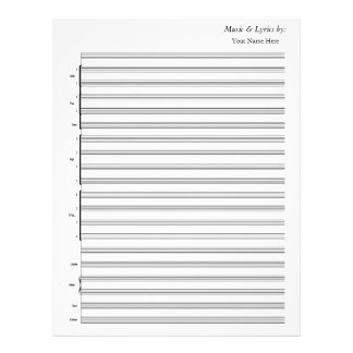 Blank Sheet Music  Jazz Band