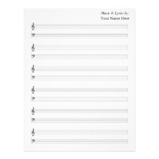 Blank Sheet Music  Piano Staves