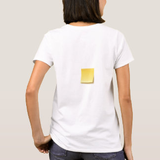 Blank Sticky Note T-Shirt