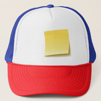 Blank Sticky Note Trucker Hat