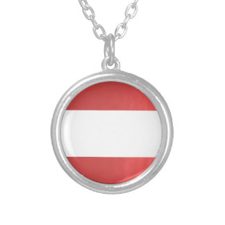 BlanK STRIPE Template DIY add TXT IMAGE EVENT name Silver Plated Necklace