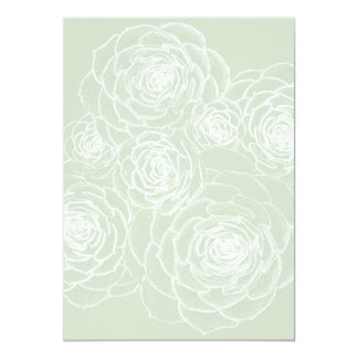 "Blank Succulents Outline Wedding Paper 5"" X 7"" Invitation Card"