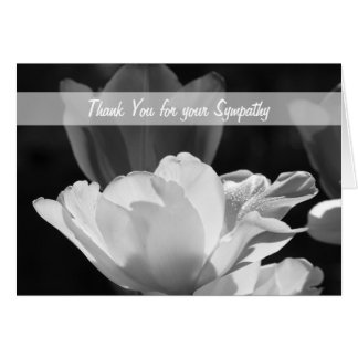Blank Sympathy Thank You Note Card -- Tulips