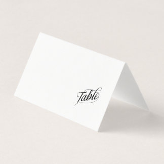 Blank Table Calligraphy Guest Place Card