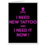 Blank tattoo Greeting Card