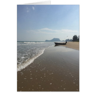 Blank Thailand Beach Boat Greeting Card
