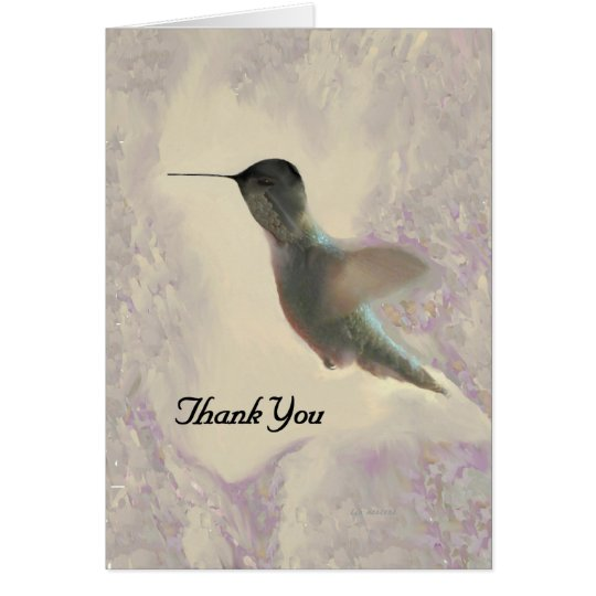 Blank Thank You Card Hummingbird