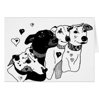 Blank to personalise Greyhound Greeting Card