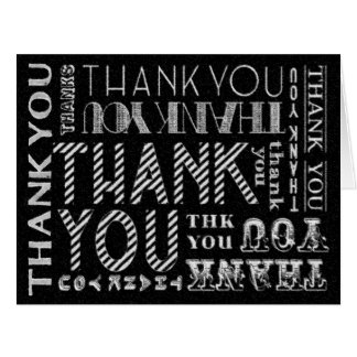 Blank Unisex Thank You Chalk Typography Card