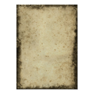 Blank Vintage Dark Aged Stained Paper Card