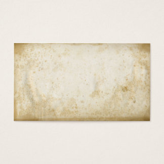 Blank Vintage Grungy Stained Paper Business Cards