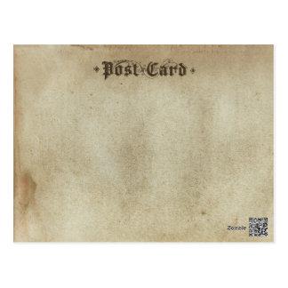Blank Vintage Stock Antique Ancient Parchment Postcard