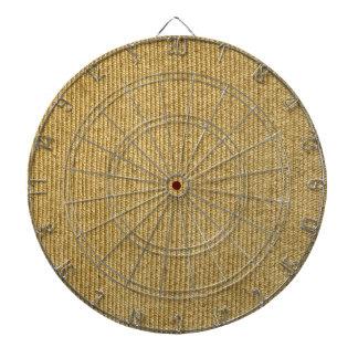Blank Vintage Wicker Woven Inspired Dartboard