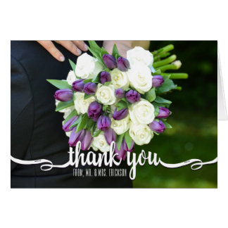 Blank Wedding Photo Thank You Note Card