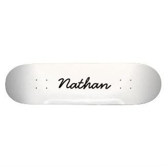 Blank white skate board