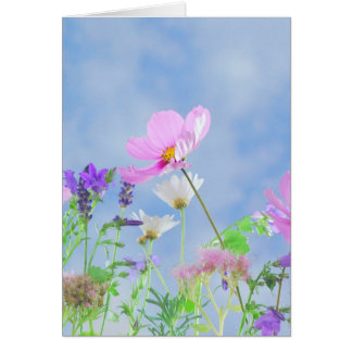Blank Wild Flowers Greeting Card