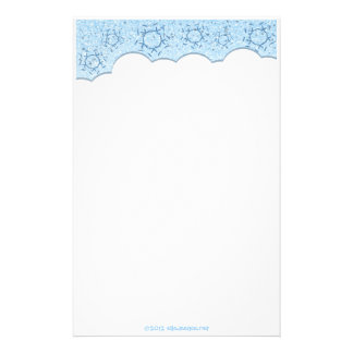 Blank Winter Snowflakes stationary sheets Custom Stationery
