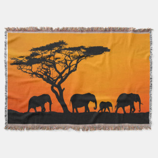 blanket African savannah, African savannah blanket Throw Blanket