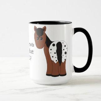 Blanket and Leopard Big Butt Appaloosa Horse Mug