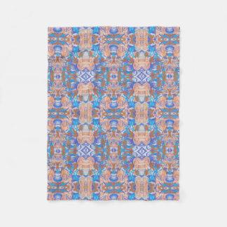 blanket, bleu,  motif, abstrait, rayé, élégant, ro fleece blanket