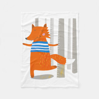 Blanket, Cute Fox Fleece Blanket