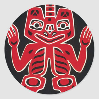 Blanket Design Of The Haida ~ Alaska Classic Round Sticker