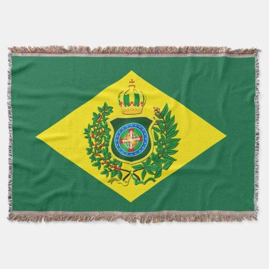 Blanket Imperial Flag of Brazil Throw Blanket