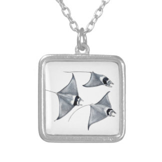 Blanket is weak - ray Mobula to mobular Silver Plated Necklace