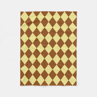 Blanket: Khaki and Saddle Brown Diamonds Fleece Blanket