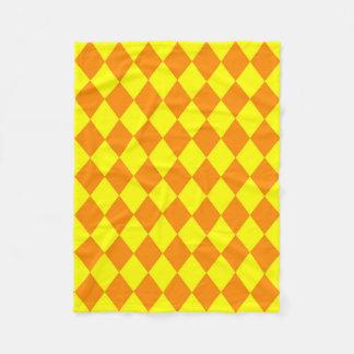 Blanket: Orange & Yellow Diamonds Fleece Blanket