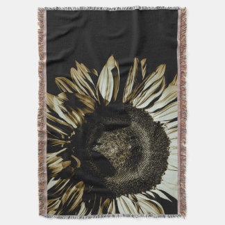"Blanket Throw ""Fall Sunflower"""