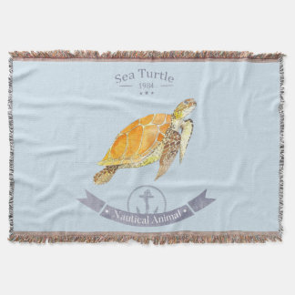 Blanket Turtle-Navy | Sea Turtle