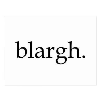 Blargh Postcard