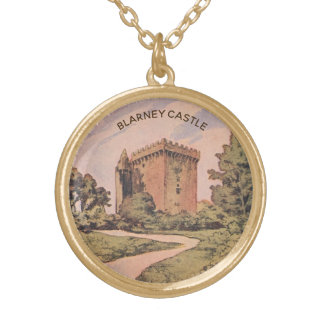 Blarney Castle Gold Plated Necklace