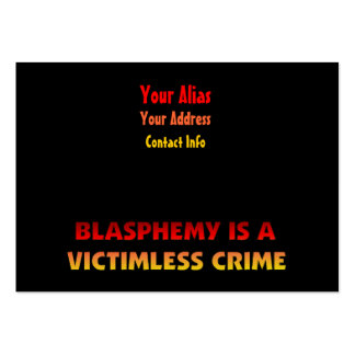 Blasphemy Victimless Crime Large Business Cards (Pack Of 100)