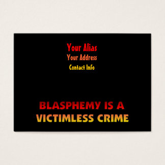 Blasphemy Victimless Crime Business Card