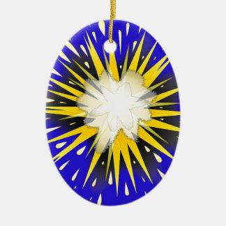 Blast Ceramic Oval Ornament