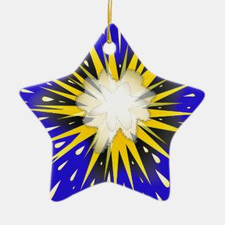 Blast Ceramic Star Ornament