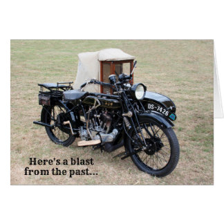 Blast From Past Vintage Motorcycle Birthday Card
