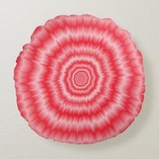 Blast of Pink Round Pillow