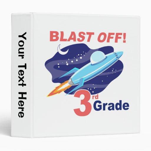 Blast Off 3rd Grade Vinyl Binder