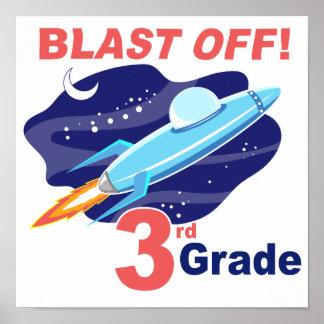 Blast Off 3rd Grade Posters