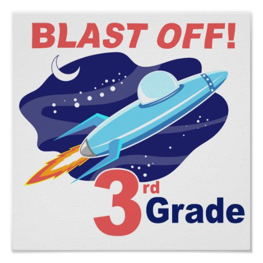 Blast Off 3rd Grade Posters