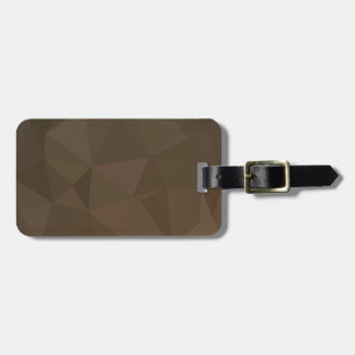 Blast Off Bronze Abstract Low Polygon Background Bag Tag