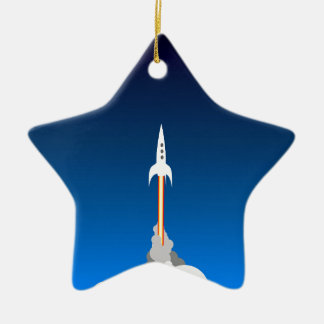 Blast Off! Ceramic Ornament