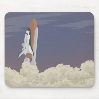 blast off launch pad Shuttle flies into space Mouse Pad