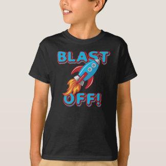 Blast Off Rocket Ship T-Shirt