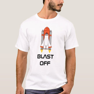 Blast Off - Space Shuttle T-Shirt